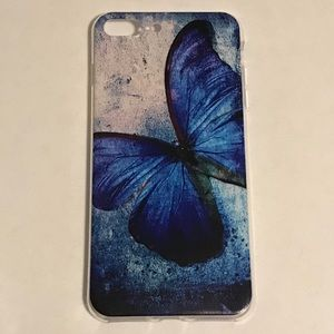 Blue Butterfly Ultra Thin iPhone 7+/8+ Matte Case
